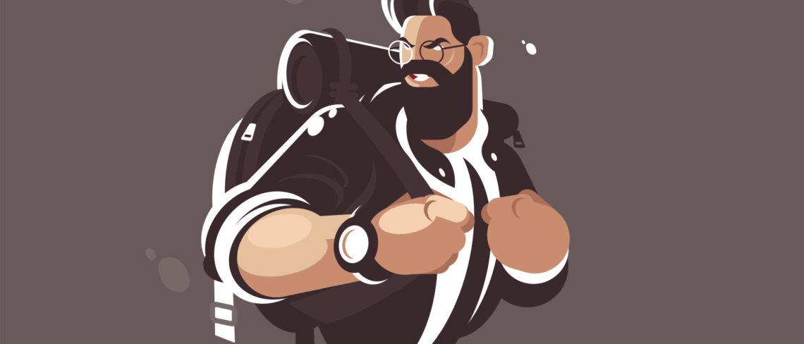 Backpack man